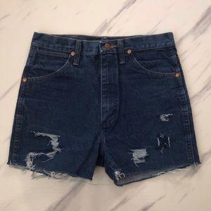 Wrangler High Rise Cutoff Denim Shorts sz 30